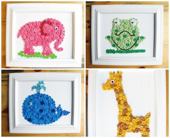 Ideas para cuadros infantiles con botones > Decoracion Infantil y ...