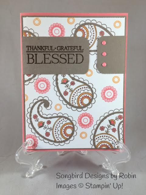 SU! Paisleys and Posies stamp set in Flirty Flamingo, Tip Top Taupe and…