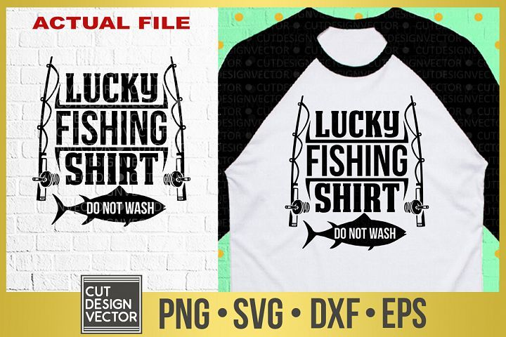 Download Lucky Fishing Shirt Svg 305101 Svgs Design Bundles Fishing Shirts Shirt Svg Shirts