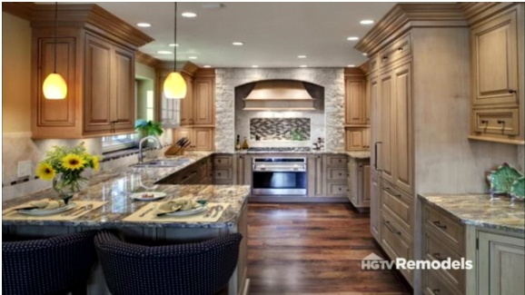 Example of a G Shaped kitchen