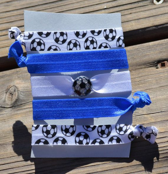 Soccer Hair Tie Accessories Team Color Soccer Hair by SportyChicas