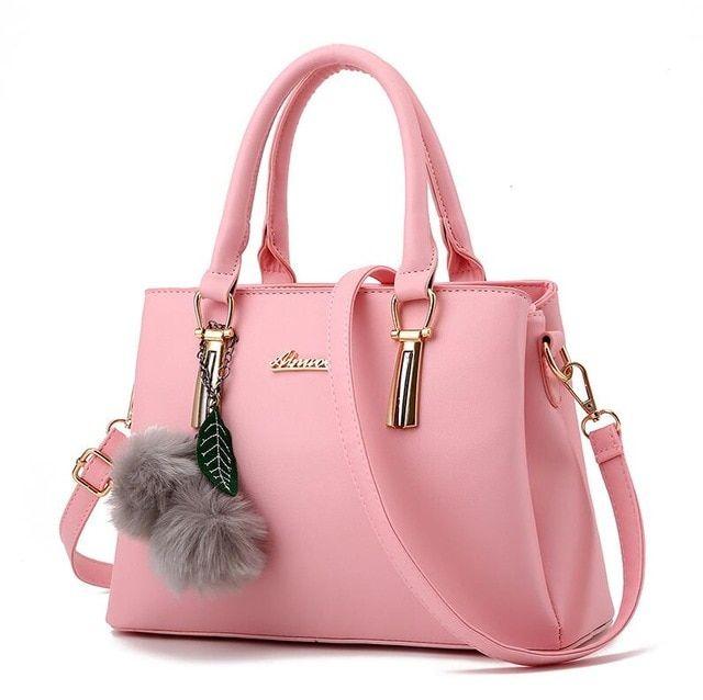 Yogodlns ladies fur ball ornaments totes zipper medium purse hotsale woman occasion purse shoulder messenger crossbody baggage