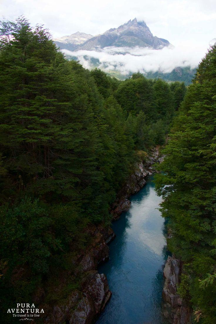 The Tres Monjas peak in Futaleufu valley, Chile #CarreteraAustral
