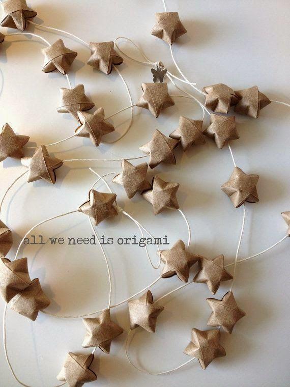 łańcuch z gwiazdek origami