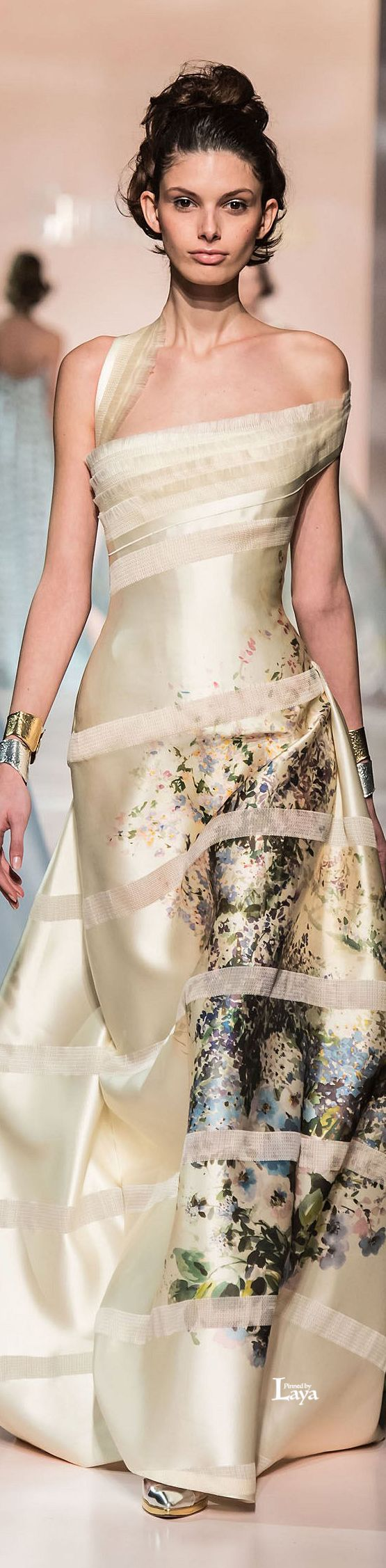 Georges Chakra - Spring-Summer 2015 Couture Collection Trim on bias