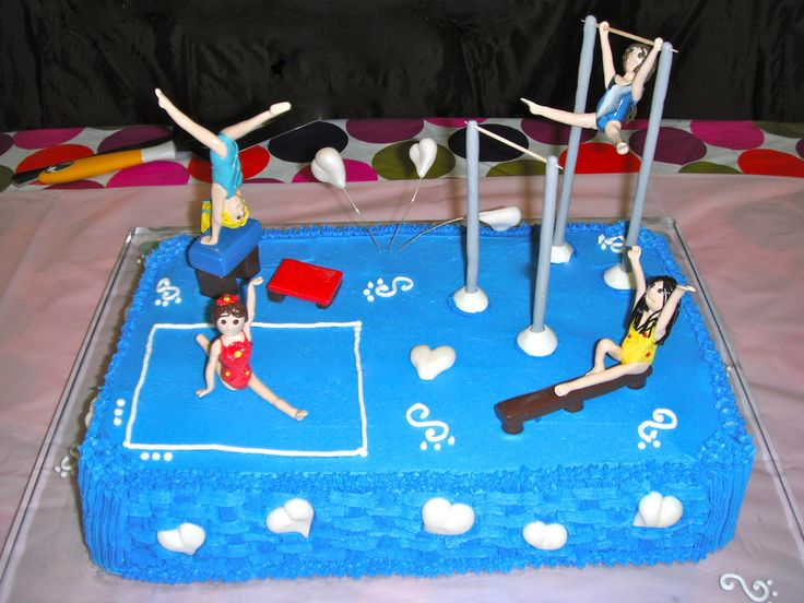 Custom Cake Topper Gymnastic Girls with equipment by Partyartist, $39.99