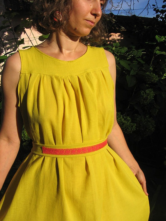 ON SALE  Cute little yellow dress by SeaOfTales on Etsy, $47.00