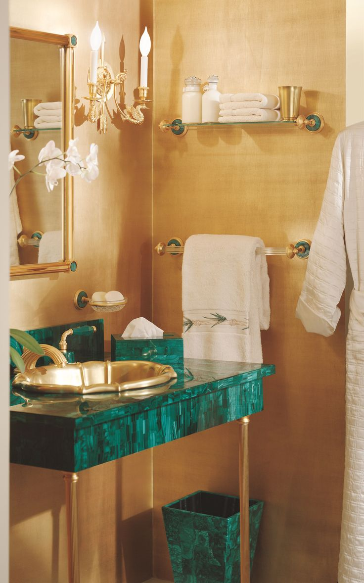 17 best images about bath classic sherle wagner on for Gold bathroom bin
