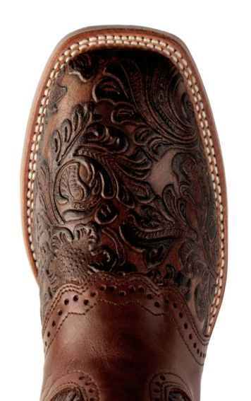 Boulet Tooled Leather Cowgirl Boots - Square Toe - Sheplers
