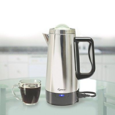 Capresso 12cup Perk Coffee Maker Stainless Steel 405.05, Silver