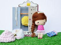 Małgorzata Kołaczyńska-Strzelecka, Zabawkarstwo,  http://polandhandmade.pl #polandhandmade, #doll, #pocketdoll,#szafa,#ubranka,