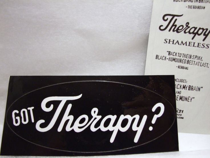 Got therapy sticker shameless therapy uk band logo promo decal phrase by popwildlife on etsy