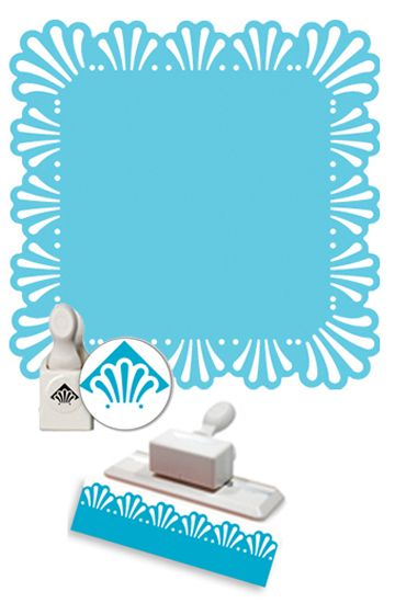 Martha Stewart Crafts - Punch Around the Page - Craft Punch Set - Deco Fan at Scrapbook.com $24.99