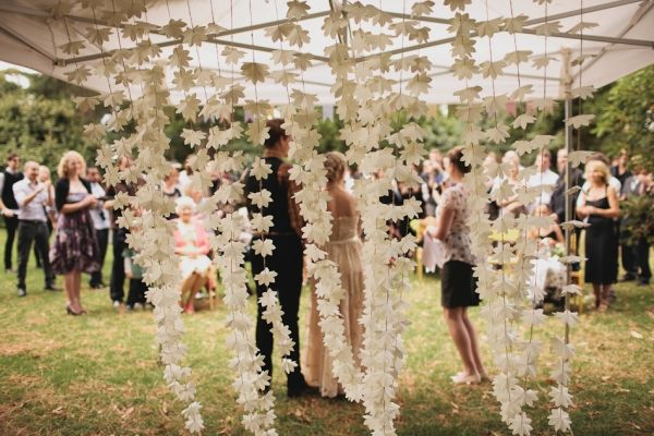 paper flower chains