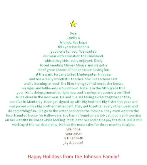 http://lisa42.hubpages.com/hub/Make-Your-Christmas-Letter-in-the-Shape-of-a-Christmas-Tree