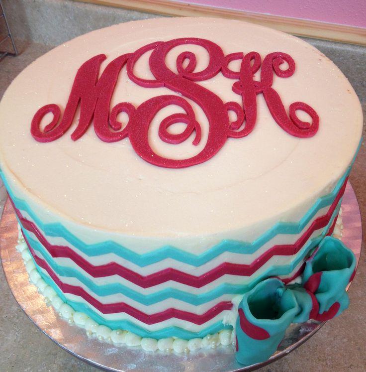 Monogrammed cake for MY BIRTHDAY????