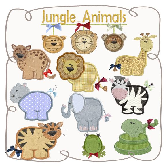 The Wild Applique Set Machine Embroidery Design Pattern-INSTANT DOWNLOAD