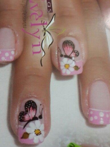 Mariposa Uñas Mariposas Pinterest Nail Designs Butterfly Nail