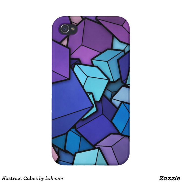 Abstract Cubes IPhone 4 Case