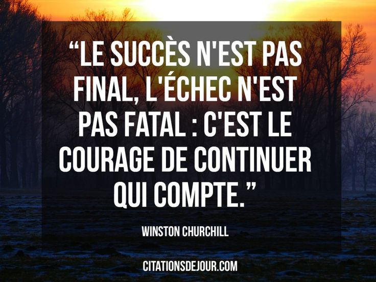 Citation de Winston Churchill sur le succès