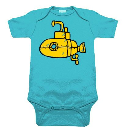 Submarine Aqua One Piece by My Baby Rocks - nautical and sailor baby clothes
