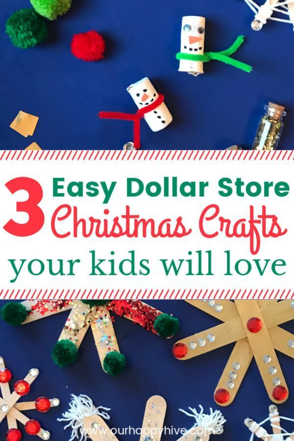 3 Easy Dollar Store Christmas Crafts Every Kid Will Love Save