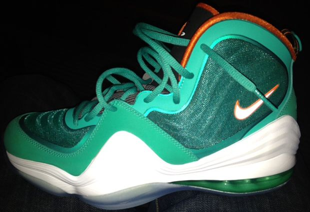 "Nike Air Penny 5 ""Dolphins"" dropping sometime this year!: Miami Dolphins Esqu, Cops, December 2012, 2012 Relea, Pennies Aint, Nike Air Pennies 5 Dolphins, I'M, Relea Drop, Pennies 5S"