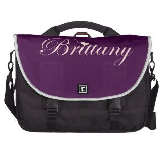 Brittany with a Heart Laptop Messenger Bag #pinkandpurplebag $202.00