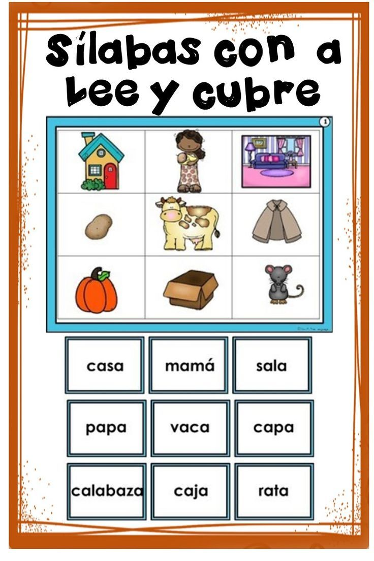 Silabas En Espanol Spanish Syllables With A In 2020 Bilingual Teaching Learning Spanish Language Activities [ 1104 x 736 Pixel ]