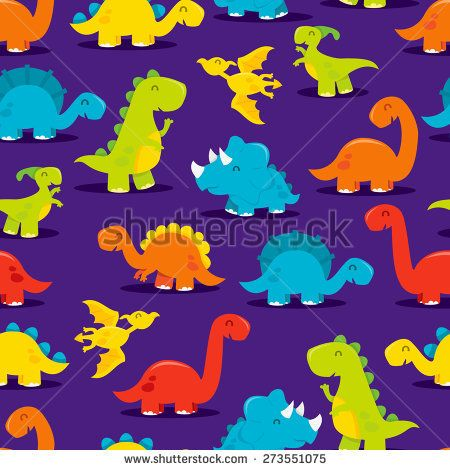 A Cartoon Vector Illustration Of Cute And Fun Dinosaurs Seamless Pattern Background The Purple Backgro Dinosaur Background Dinosaur Wallpaper Dinosaur Pattern