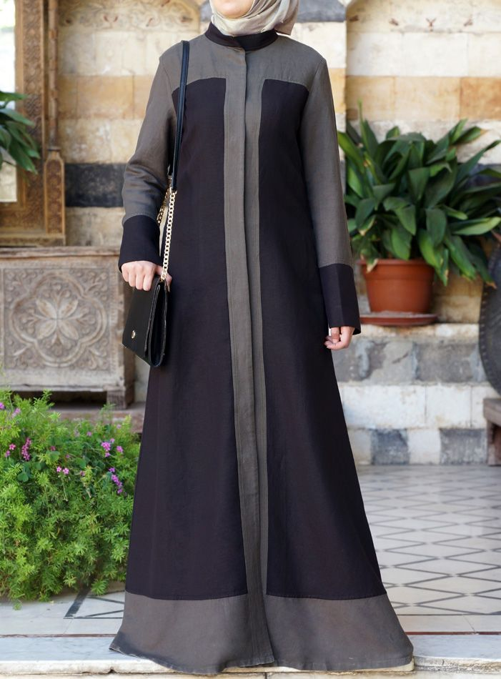 Love the color blocking, but maybe i'd love the cut for tunic instead of abaya