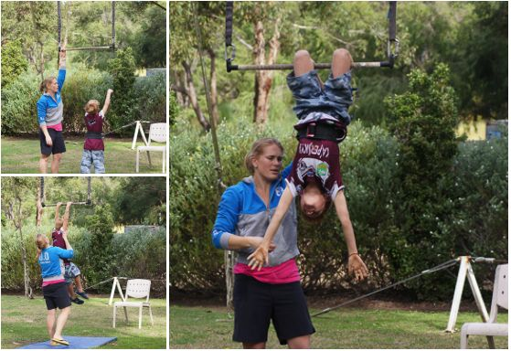 The Flying Trapeze. Kids In The Park – 50 School Holiday Activities @ Sydney Olympic Park. kidsinthepark.com.au