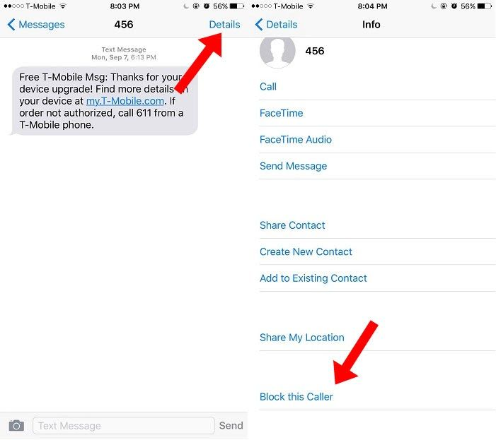 Here S How To Block Text Messages On Your Ios Devices Without Any 3rd Party App Howto Message Ios Block Text Messages Text Messages Messages