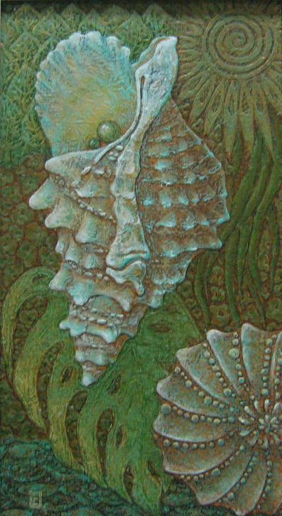 Joiness of nature. 75x40, Oil on canvas, Special texture.