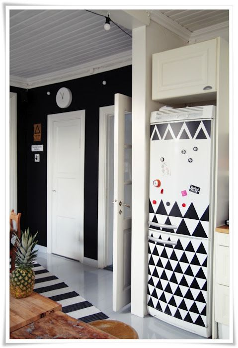 DIY Makeover: Decorating w/ Adhesive Contact Paper (floors, walls, refrigerator, cabinets, furniture, etc.)