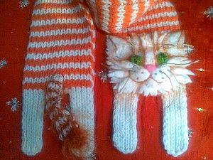 Kitten Knitted Scarf Free Pattern