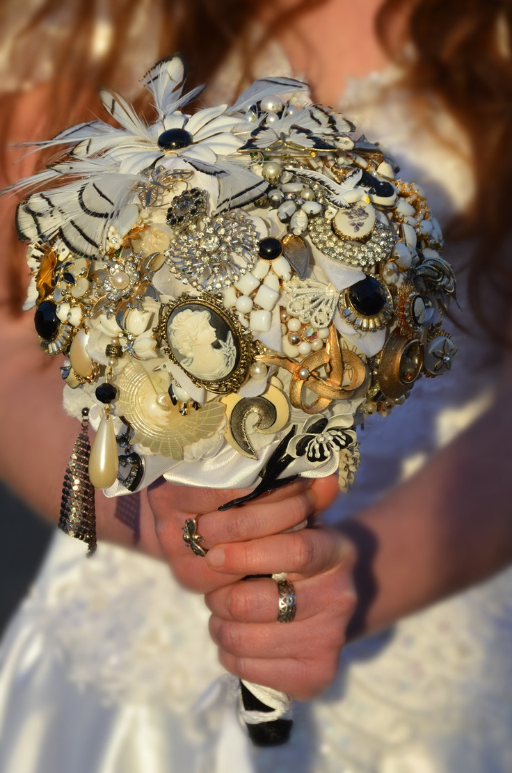 44 best Vintage jewelry bouquets images on Pinterest Bridal