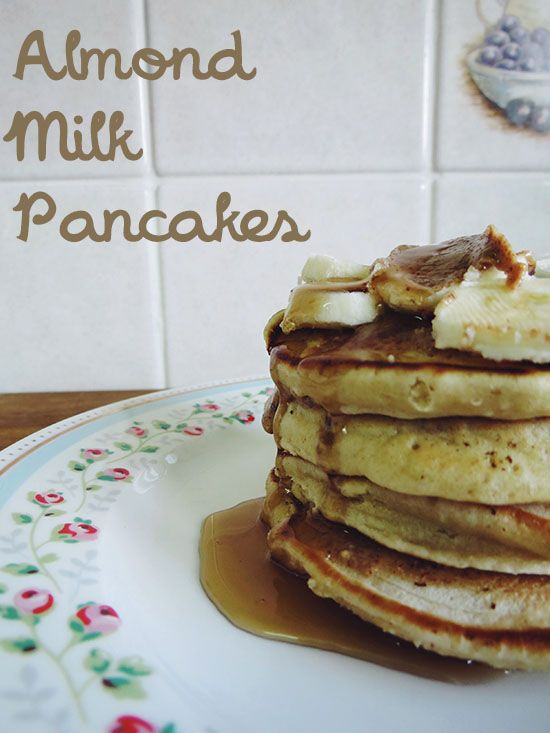 Almond Milk Pancakes -need to use up all the almond milk I recently bought