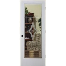 Reliabilt Madison Solid Core Etched Glass Single Prehung Interior Door  (Common: 32 In