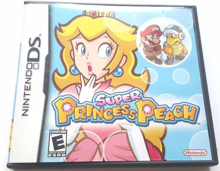 Super Princess Peach (Nintendo DS) Lite DSi XL 3DS 2DS w/Case & Manual
