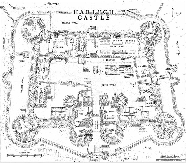 Harlech Castle floor plans (In Wales, but still a REALLY good example of the probable environment and layout of Iverness)