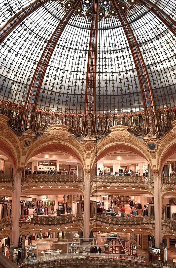 galeries lafayette is a famous grand