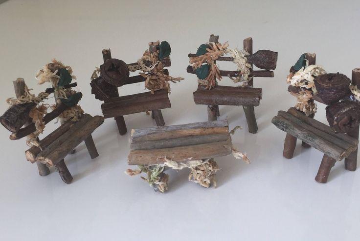 Handmade wooden fairy garden furniture set, fairy garden accessories – Handmade Fairy Garden Accessories & Rustic Decor by BellesBoutiqueAU.etsy.com