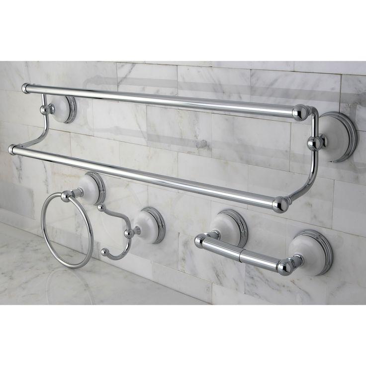 Kingston Victorian 4-piece Polished Chrome Bathroom Accessory Set