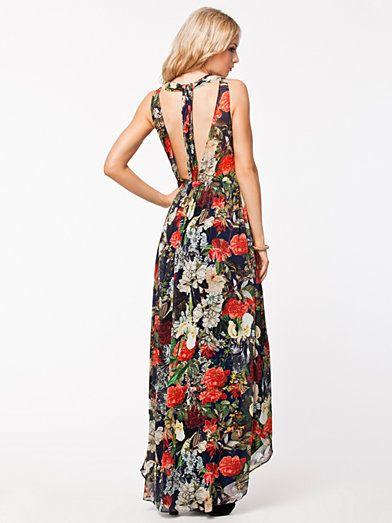 Wheaton Maxi Dress - Alice & Olivia - Blommig - Festklänningar - Kläder - Kvinna - Nelly.com