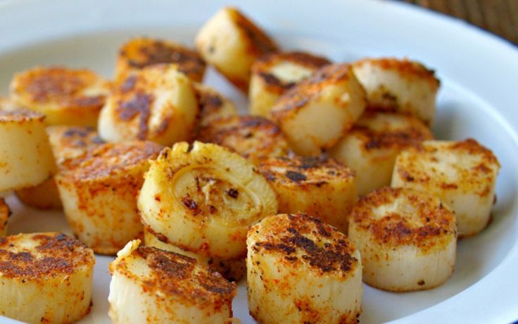 Spicy and Seared Hearts of Palm Rounds [Vegan]    heart of palm, seasoning blend of choice