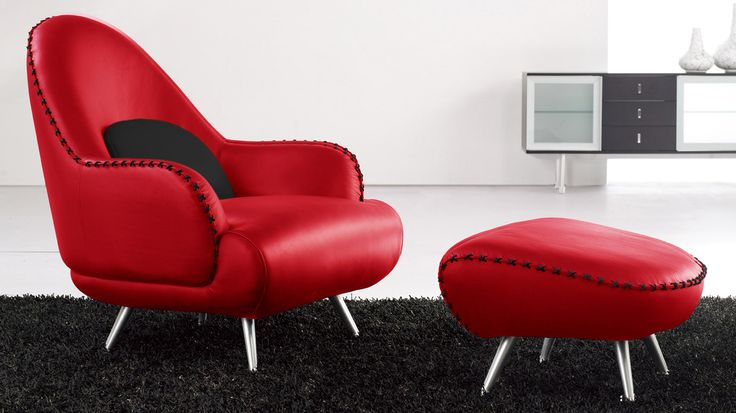 Shop Vitali Red Leather Chair and other modern and contemporary home and office furniture. Browse our selection of Lounge Chairs from Zuri Furniture.