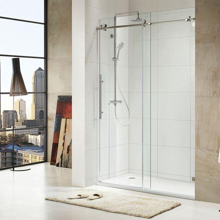 frameless sliding shower doors reviews sterling finesse door master brushed nickel