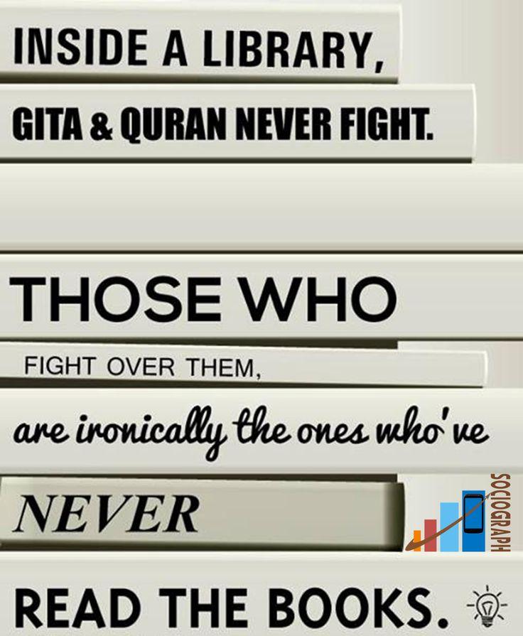 Quote on Books  #Reading #Books #Sociograph #Library #Gita #Quran