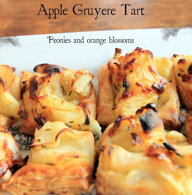 ... and Orange Blossoms: Caramelized Onion, Apple, and Gruyere Tart Recipe
